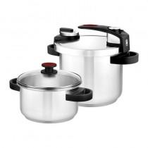 ULLIConvierte la coccion a presion en el proceso mas rapido intuitivo y seguro de la cocina LILIConjunto de olla rapida de 47L