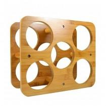 pBotellero fabricado en bambu con capacidad para 5 botellasbr p