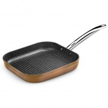 pEl grill Copper esta fabricado en aluminio forjado de la mejor calidad y su efecto exterior en aspecto de cobre metalizado dis