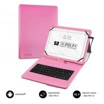 pul liTeclado integrado con funda para Tablet de hasta 101 li liCompatible con dispositivos Android 40 o posterior li liConecto