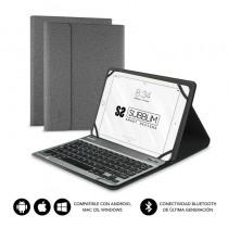 pul liTeclado Bluetooth extraible con funda para Tablet de hasta 101 li liCompatible con dispositivos Windows Android Ios y Mac