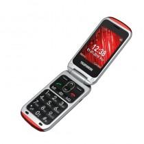 pul liTelefono Movil con tapa li liTarjeta SIM mono SIM li liTarjeta micro SD compatible 32Gb li liRed 2G 900 1800 MHz li liBlu