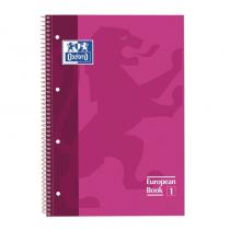 Cuaderno Oxford de tapa extradura con recuadro a juego de la tapaEspiral tambien del mismo color que las tapas Papel de 90 gram