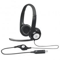 pUn casco telefoacutenico USB versaacutetil con una diadema acolchada y ajustable para escuchar con total comodidad puro sonido