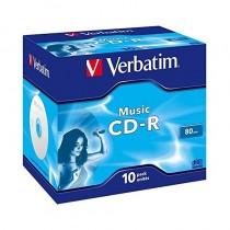 pCD R de musica para la grabacion de archivos de musicabrul liCapacidad 80min li liVelocidad 16x li liPresentacion 10 Pack Jewe