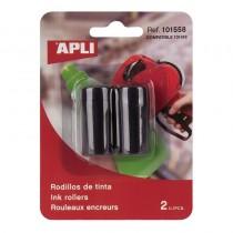 pComplemento de la gama de etiquetadoras Blister con 2 recambios de tinta color negro en tubo para maquinas etiquetadoras manua