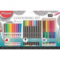 pliSet de dibujo de 33 piezas Ideal para colorear mandalas liliContiene 10 rotuladores graphpeps extra fine 04 mm 10 rotuladore