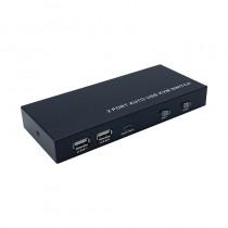 pAISENS CONMUTADOR KVM HDMI 4K60HZ USB 1U 2PC CON FUENTE ALIMENTACIoN NEGRObrul liEste KVM switch es un dispositivo que puede c