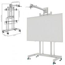 PEl APPIBSTD es un soporte movil para pizarra interactiva de 80 a 120 pulgadas con soporte para montaje de proyectores de corta
