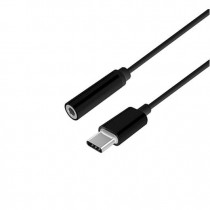 ADAPTADOR USB C M A JACK 35 H AISENS 15CM NEGRO ESTILO APP