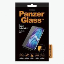 pEl protector de pantalla PanzerGlass 8482 para Xiaomi Redmi Note 9 en negro se adapta a las carcasas y cubre toda la superfici